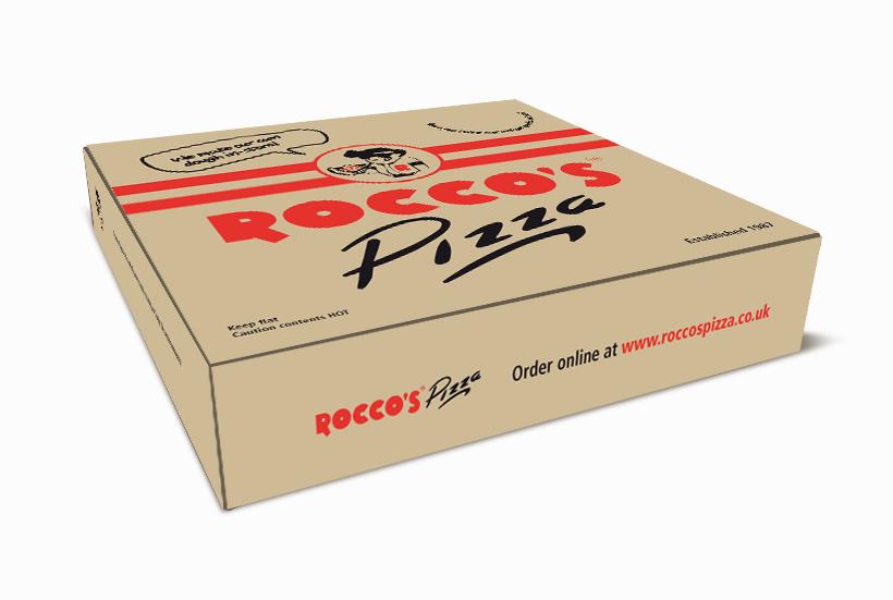 Roccos packaging design